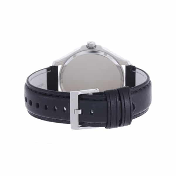 Armani Exchange For Men Black Dial Leather Band Watch - AX2101