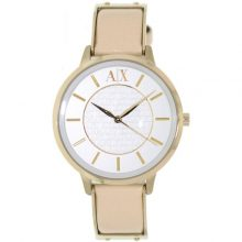 Armani Exchange Women's White Dial Leather Band Analog Watch [AX5301]
