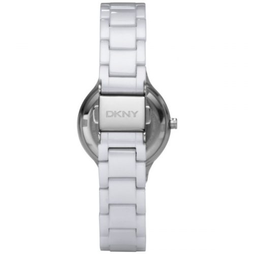 DKNY Stanhope Women's White Dial Ceramic Band Watch - NY4886