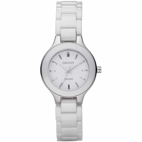 DKNY Stanhope Women's White Dial Ceramic Band Watch - NY4886