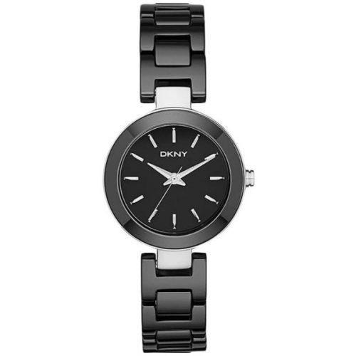 DKNY Women's Black Dial Ceramic Band Watch - NY2355