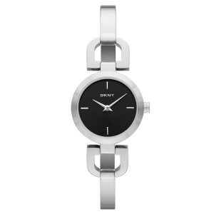 DKNY Women's Black Dial Stainless Steel Band Watch - NY8541