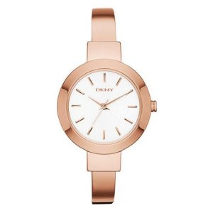 DKNY Women Round Stainless Steel Analog Quartz Watch-NY2347