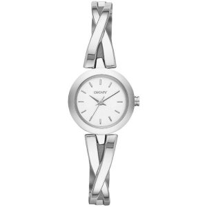 DKNY Women's White Dial Stainless Steel Band Watch - NY2169