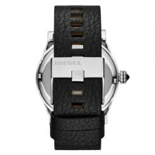 Diesel Double Down Men's Black Dial Leather Band Watch - DZ1677