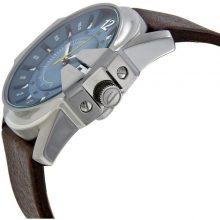 Diesel Master Chief Men's Blue Dial Leather Band Watch - DZ1399