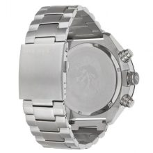 Diesel Overflow For Men White Dial Stainless Steel Band Chronograph Watch - DZ4203