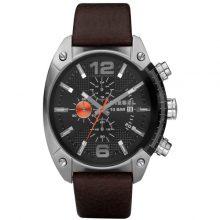 Diesel Overflow Men's Black Dial Leather Band Watch - DZ4204