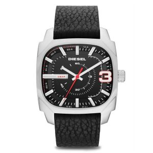 Diesel Shifter For Men Black Dial Leather Band Watch - DZ1652
