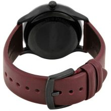 Emporio Armani Classic Men's Burgundy Dial Leather Band Watch - AR1801