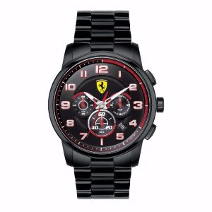 Scuderia Heritage Chronograph Black Dial Black Ion-plated Men's Watch G2-830054