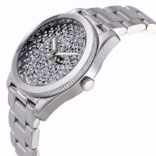 Perfect Boyfriend Silver Crystal Pave Dial Steel Ladies Watch G2-ES3688