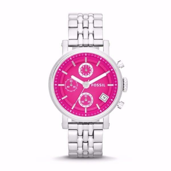 Riley Multi-Function Pink Dial Stainless Steel Ladies Watch G2-ES3572