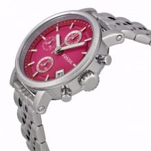 Riley Multi-Function Pink Dial Stainless Steel Ladies Watch G2-ES3572