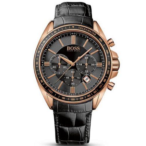 Hugo Boss Chronograph Leather Strap Driver Sport Watch G2-1513092