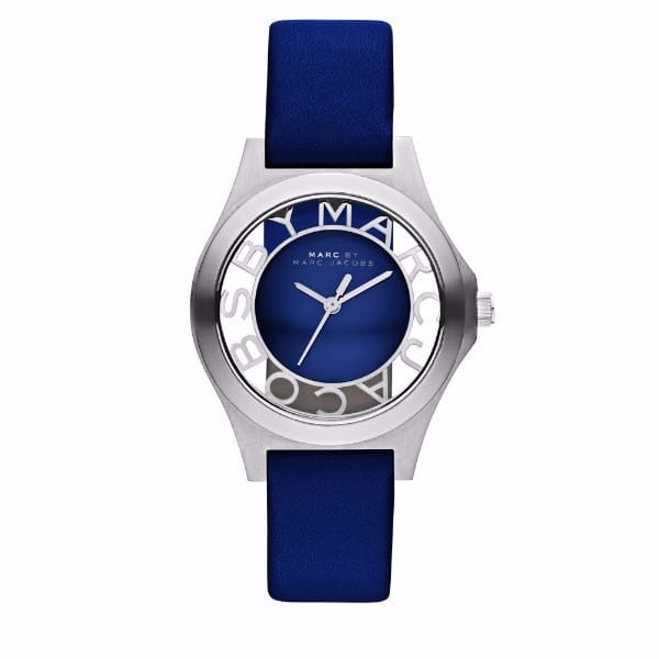MARC JACOBS Women Round Leather, Stainless Steel Analog Quartz Watch-MBM1337