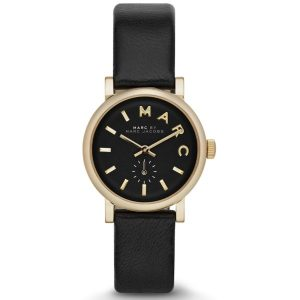 Marc by Marc Jacobs Baker Mini Women's Black Dial Leather Band Watch - MBM1273