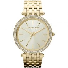 Michael Kors Darci Women's Pave Gold Dial Gold-Tone Stainless Steel Band Watch - MK3191