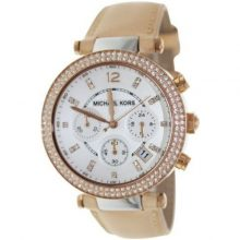 Michael Kors Parker Tan for Women - Analog MK5633 Leather Watch