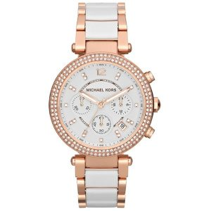 Michael Kors Parker Women's White Dial Stainless Steel Band Watch - MK5774