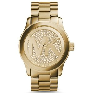 Michael Kors Runway Women's Gold Dial Stainless Steel Band Watch - MK5706