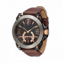 Police PL.14421XSBS/02 Leather Men Quartz Analog Watch - Brown and Pink