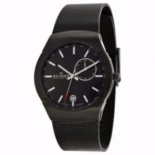Skagen Black Label Men's Black Dial Stainless Steel Mesh Band Watch - 983XLBB