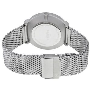 Skagen Hald Men's White Dial Stainless Steel Mesh Bracelet Band Watch - SKW6187