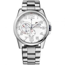 Tommy Hilfiger Frederick Men's White Dial Stainless Steel Band Watch - 1791006