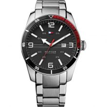 Tommy Hilfiger Noah Men's Black Dial Stainless Steel Band Watch - 1790916