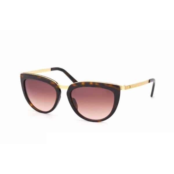 Escada Oversized Full Rim Sunglasses for Women - 863 300G Brown Gradient Mirror Gold Lenses