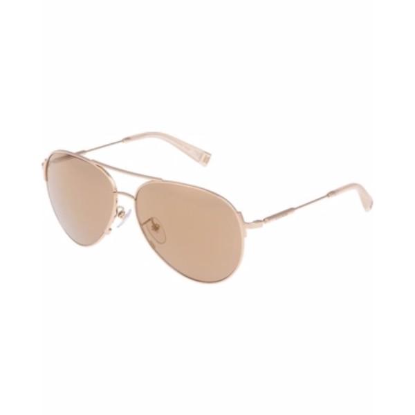 Escada  Unisex Aviator Sunglasses - 860 300G Shiny Rose Gold-Ivory Lenses