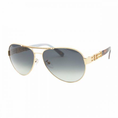 Escada  Unisex Aviator Sunglasses - 862 300 Shiny Blue Gold Lenses