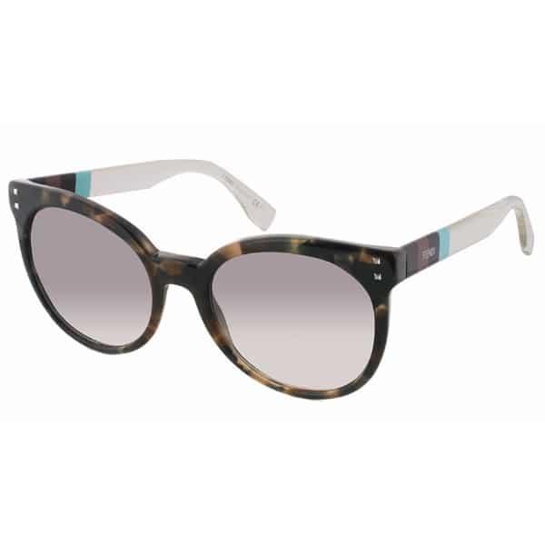 Fendi Round Sunglasses for Women - 0083 E7B Grey Lenses