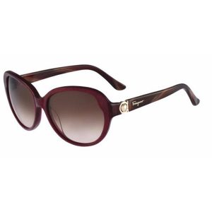 Ferragamo Cat Eye Full Rim Sunglasses for Women - 708S 605 Brown Gradient Lenses