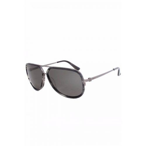 Ferragamo  Unisex Aviator Sunglasses - 637 003 Grey Lenses