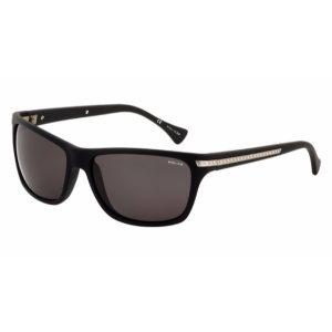 Police  Unisex Wayfarer Sunglasses - 1802 U28P Smoke Lenses