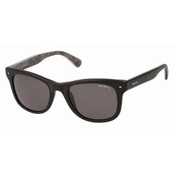 Police  Unisex Wayfarer Sunglasses - 1861 703P Smoke Lenses