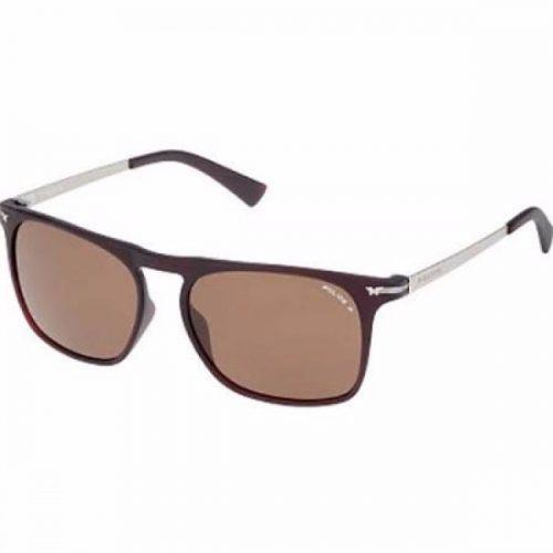 Police  Unisex Wayfarer Sunglasses - 1956 Z55P Brown Lenses