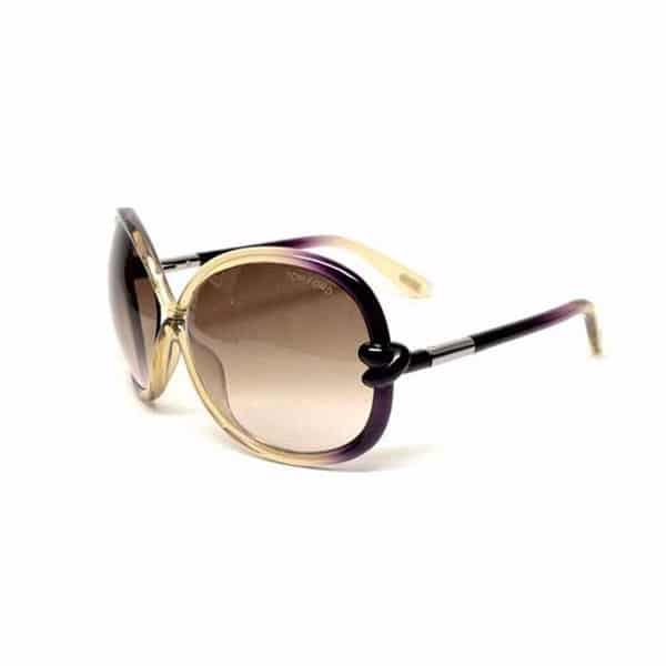 Tom Ford Butterfly Sunglasses for Women - 0185 95P Brown Beige Shaded Lenses