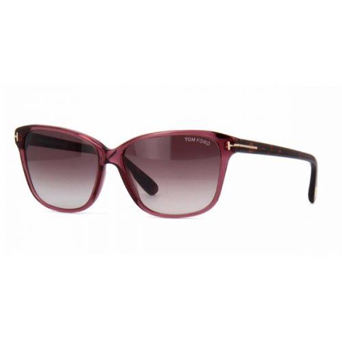 Tom Ford Rectangle Sunglasses for Women - 432 71T Purple gradient Lenses