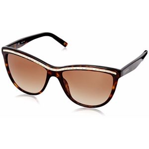 Escada Semi Cat Eye Sunglasses for Women - 315 722 Brown Lenses