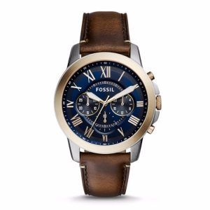 Grant Chronograph Blue Dial Men's Watch - FS5150