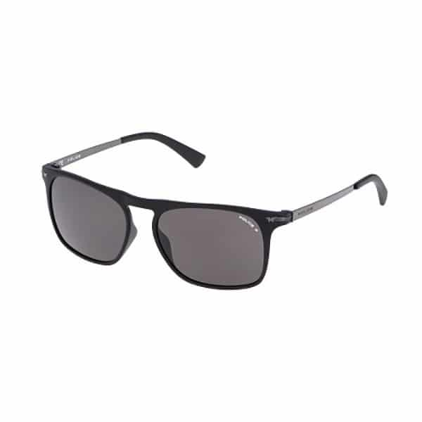 Police  Unisex Wayfarer Sunglasses - S1956 LOOK BLACK 2 Polarized U28P